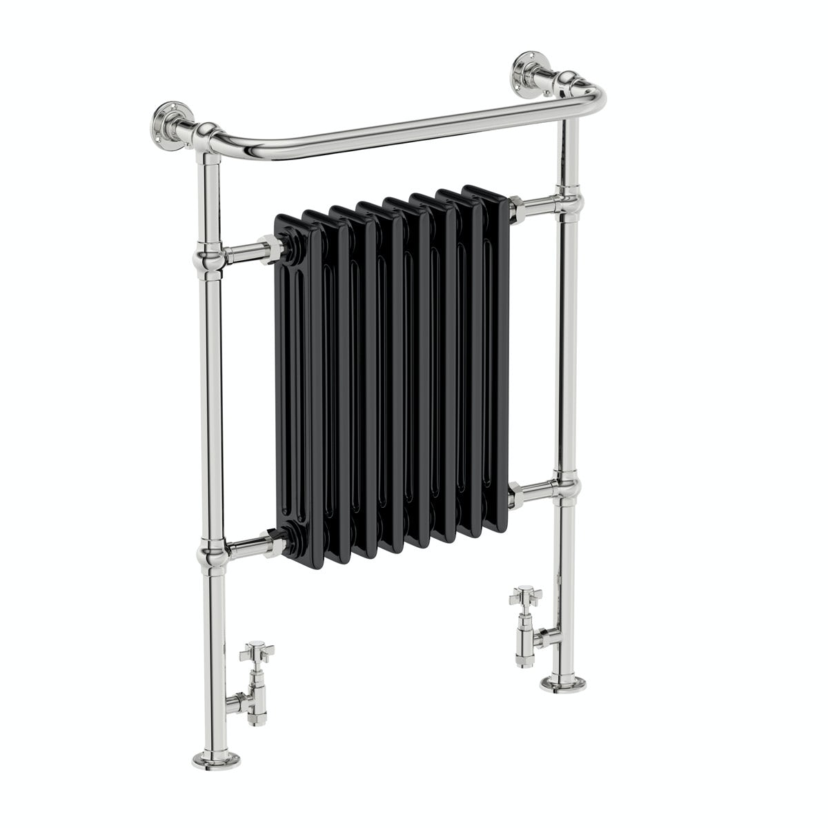The bath co dulwich black traditional heated towel rail Do heated towel rails heat the bathroom