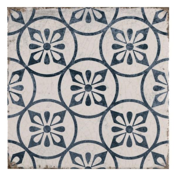 Aragon petal blue matt wall and floor tile 200mm x 200mm