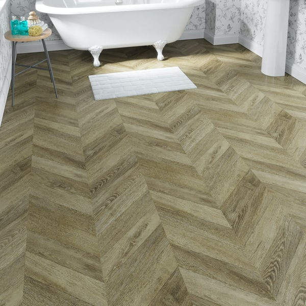 Faus Chevron Classic moisture resistant click flooring 8mm