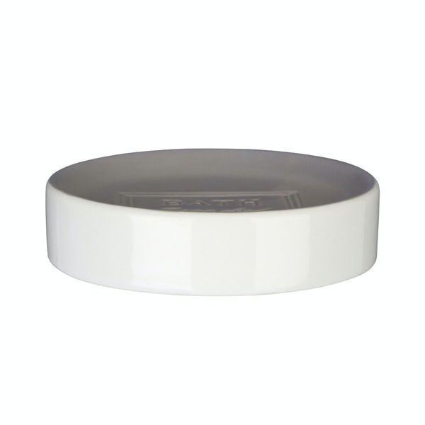 Vida stoneware grey soap dish