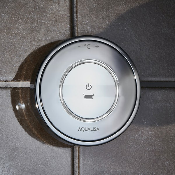 Aqualisa Unity Q Smart concealed bath filler pumped with overflow