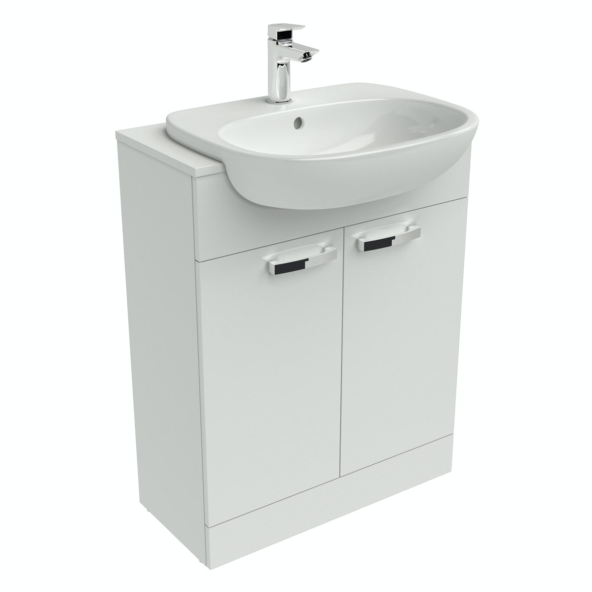 Ideal Standard Tesi white vanity door unit and basin 650mm