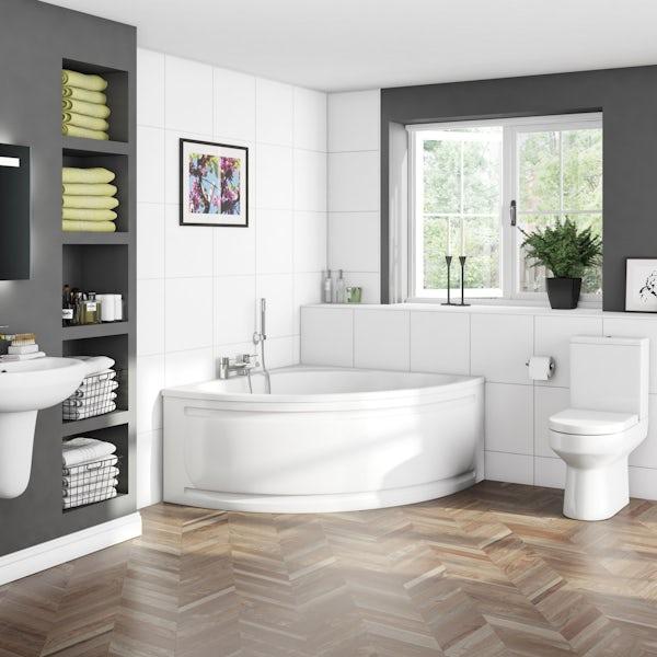 Orchard Wharfe corner bath 1695mm