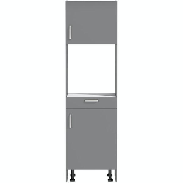 Schon Boston mid grey slab 600mm single oven housing unit