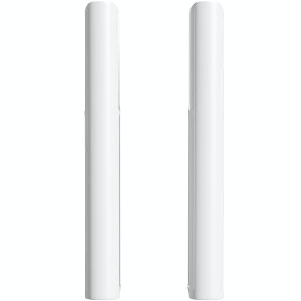 Clarity white 3 column radiator feet