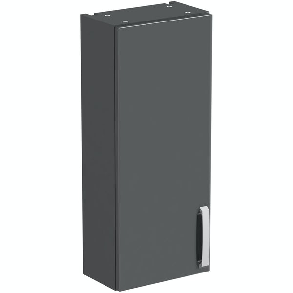 Mode Nouvel gloss grey wall cabinet 300mm