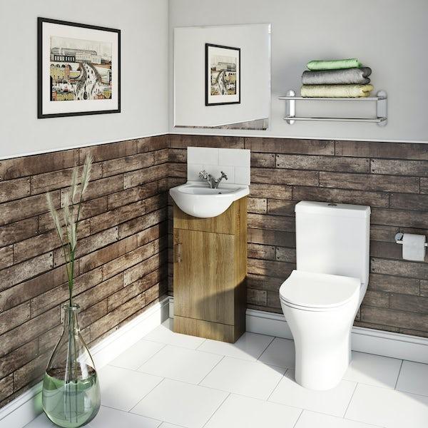 Fine Decor wooden plank sidewall gold wallpaper