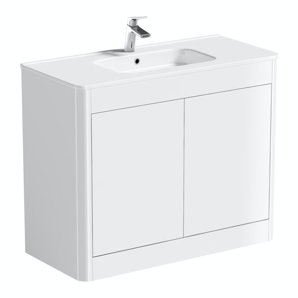 Mode Carter ice white vanity unit and basin 1000mm