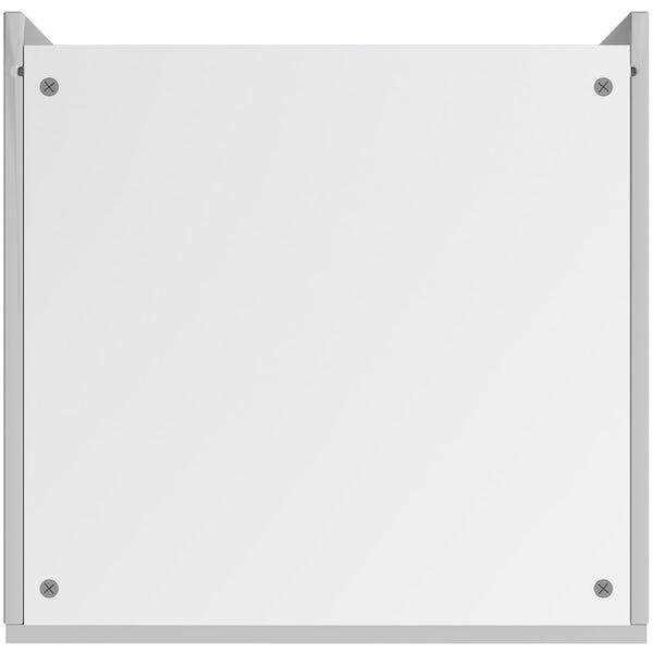 Schon Chicago light grey slab 600mm larder unit
