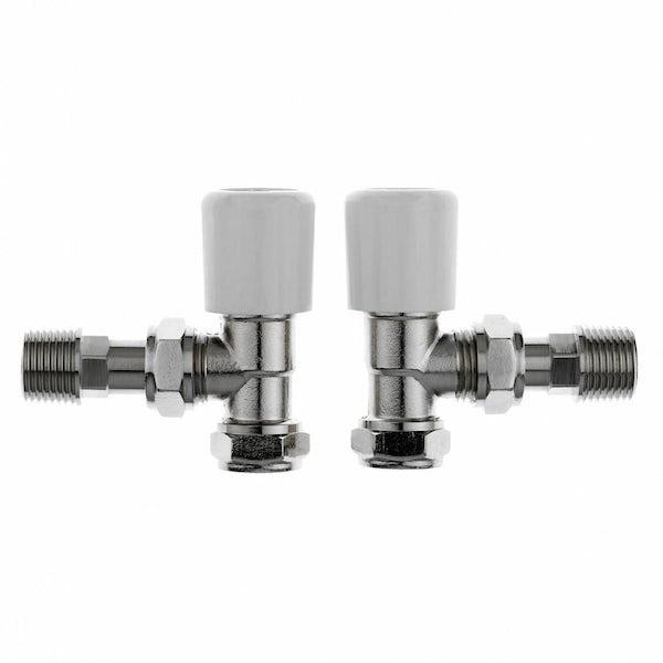 5 pairs of Clarity angled radiator valves