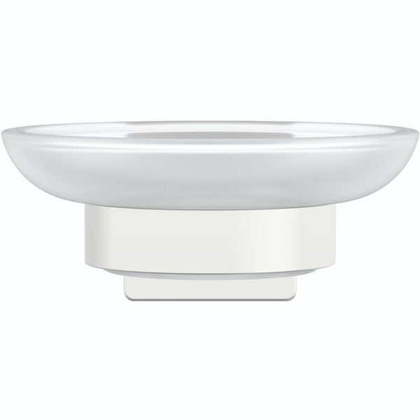 Accents square plate contemporary soap dish and holder