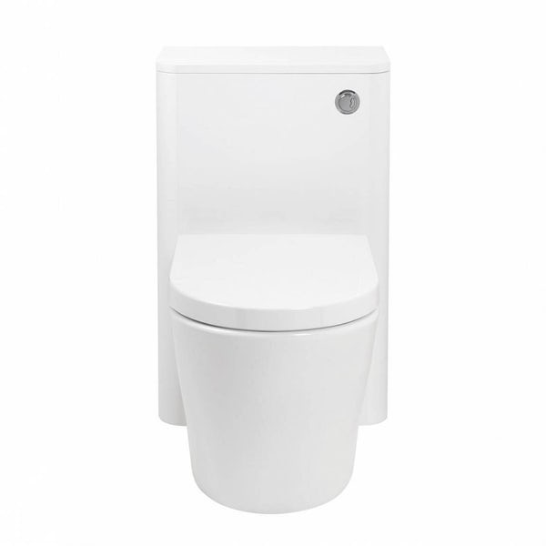 Mode Ellis white back to wall toilet unit with  contemporary toilet and seat