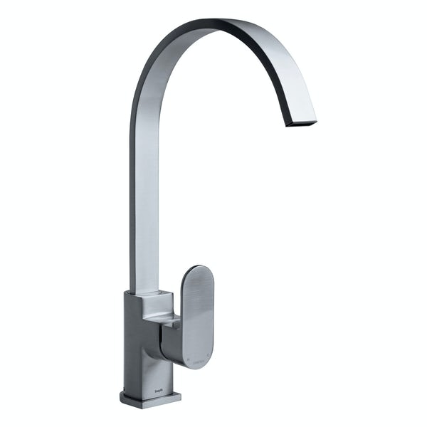 Bristan Cherry brushed nickel easyfit single lever kitchen mixer tap