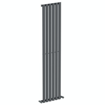 The Heating Co. Tate anthracite grey single vertical radiator
