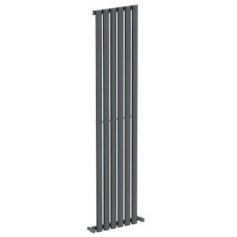 Mode Tate anthracite grey single vertical radiator 1600 x 360