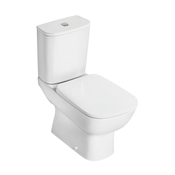 Ideal Standard Studio Echo cloakroom suite with open close coupled toilet and full pedestal basin 600mm