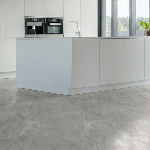 Ontario white stone effect matt wall and floor tile 308mm x 615mm