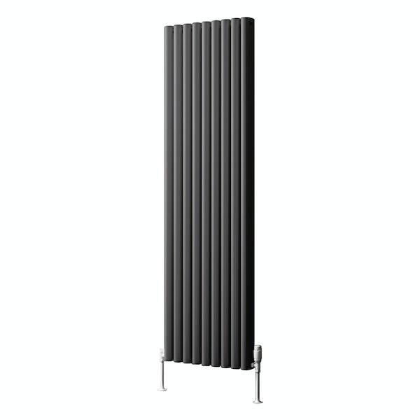 Reina Alco anthracite grey vertical aluminium designer radiator