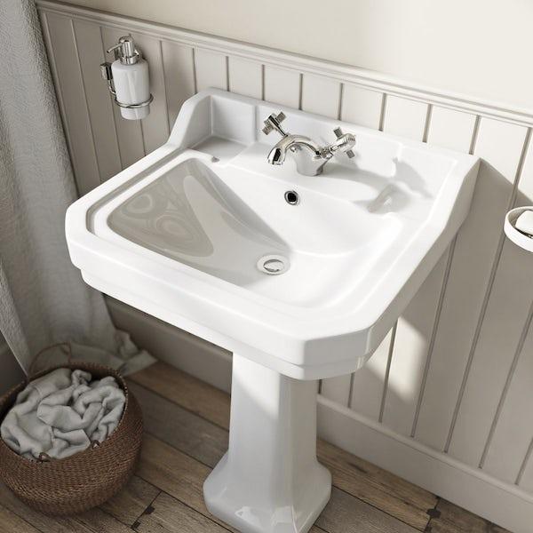 The Bath Co. Camberley 1 tap hole full pedestal basin