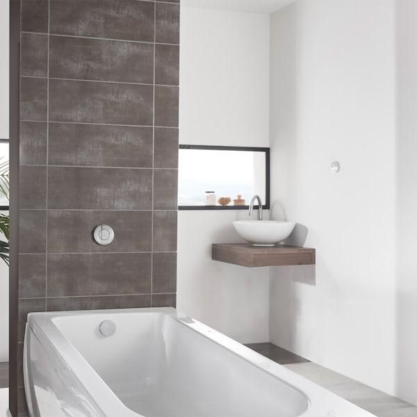 Aqualisa Unity Q Smart concealed bath filler with overflow