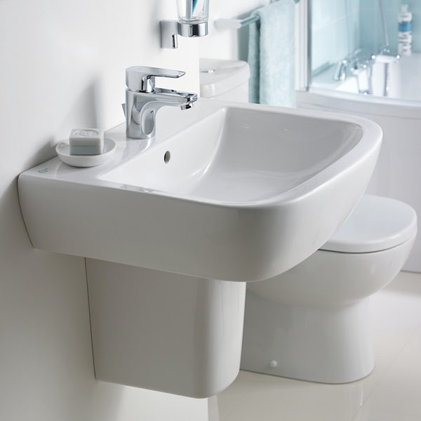 Ideal Standard Tempo 1 tap hole semi pedestal basin 550mm
