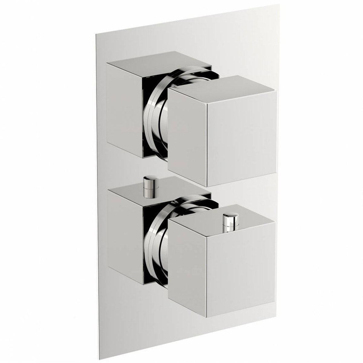 Mode Ellis square twin thermostatic shower valve