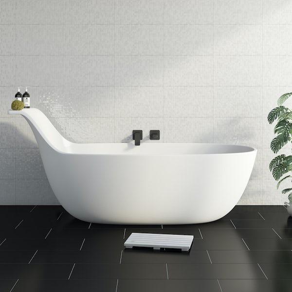 Belle de Louvain Barocci solid surface freestanding bath