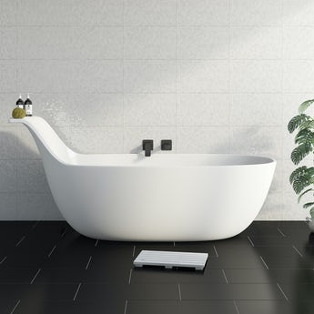 Mode Barocci solid surface stone resin freestanding bath
