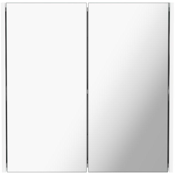 Mode Tate II white mirror cabinet 650 x 650mm