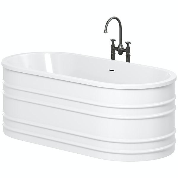 Mode Hale freestanding bath & tap pack with Castello bath filler