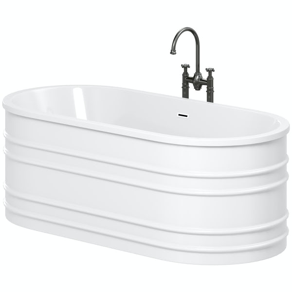 Mode Hale freestanding bath & tap pack with Castello bath filler