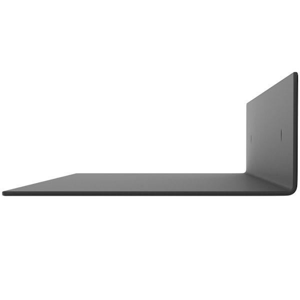Accents Mono black 600mm bathroom shelf