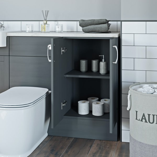 The Bath Co. Newbury dusk grey floor cabinet 500mm