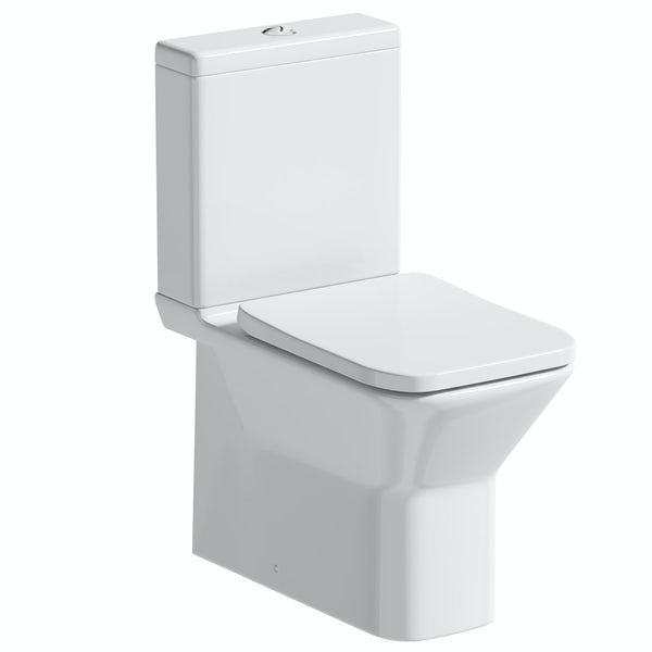 Orchard Derwent square rimless close coupled toilet with soft close seat