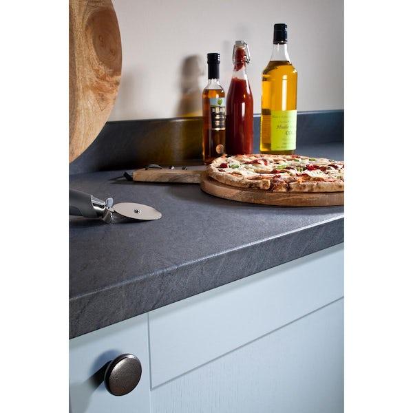 Bushboard Omega Slate roche kitchen worktop