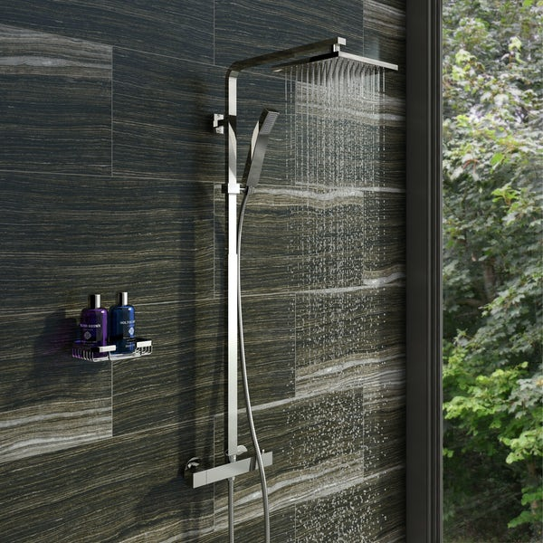 Tetra Square Head Shower Riser System Special Offer