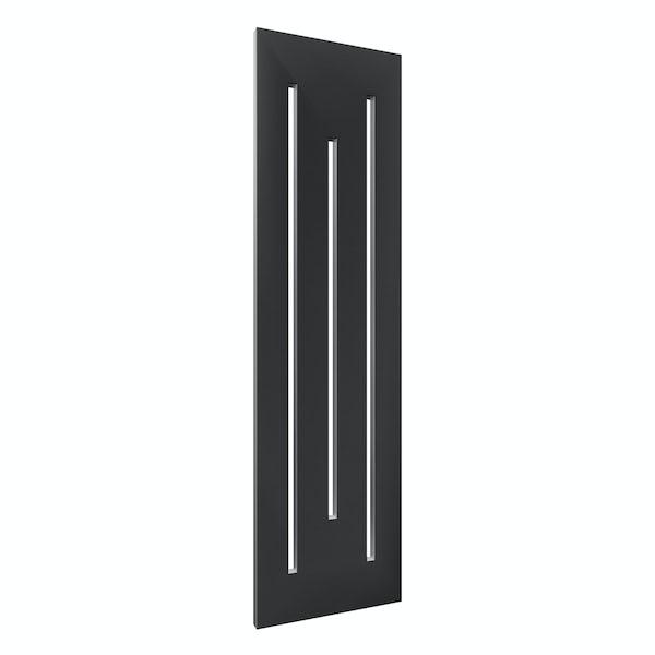 Reina Line anthracite grey steel designer radiator 1800 x 490