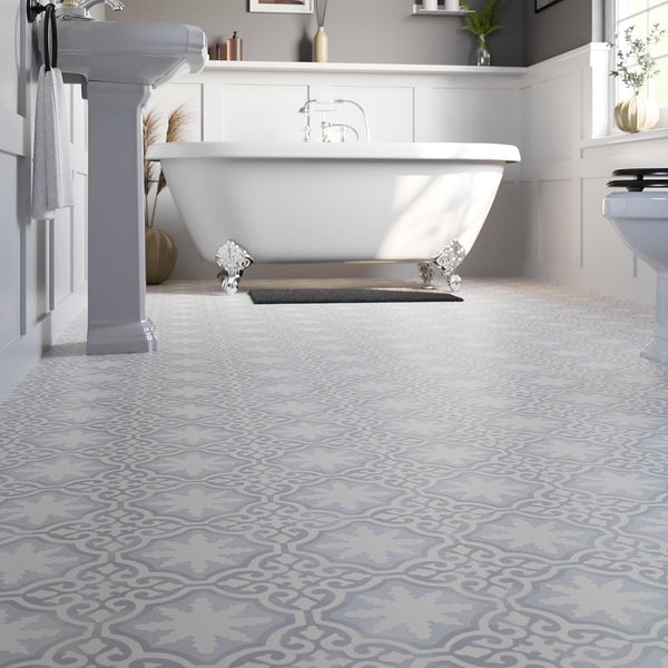 Bienville vintage patchwork water resistant laminate flooring 8mm