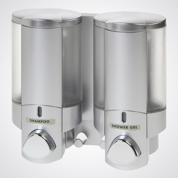 Dolphin commercial double shower dispenser chrome