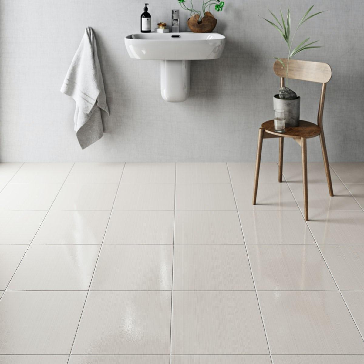 british ceramic tile linear sand beige gloss tile 331mm x. Black Bedroom Furniture Sets. Home Design Ideas