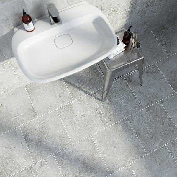 British Ceramic Tile Metropolis mid grey matt tile 331mm x 331mm
