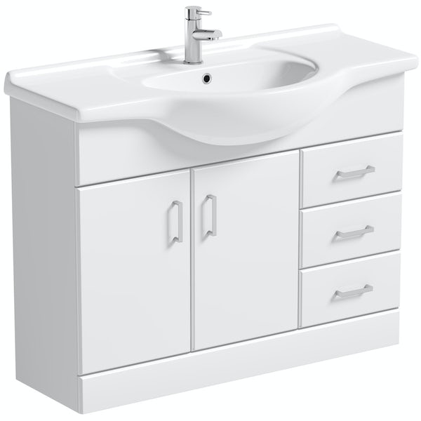 Orchard Eden white vanity unit and basin 1050mm