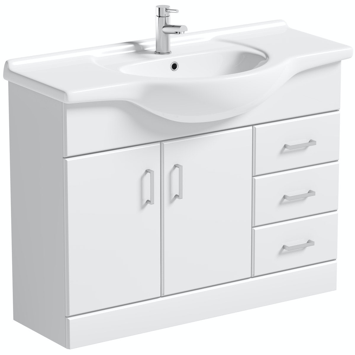 Bathroom Vanity Units B Q: Orchard Eden White Vanity Unit And Basin 1050mm