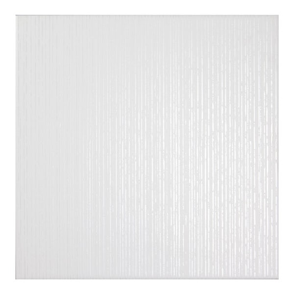 Laura Ashley Cottonwood linear white floor tile 331m x 331mm