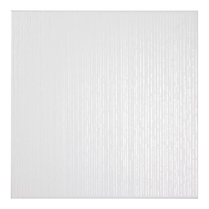 Laura Ashley White Cottonwood Linear Gloss Floor Tile 331m