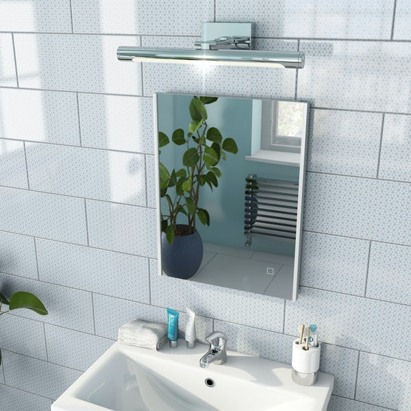 Mode Race LED illuminated mirror 500 x 390mm with demister