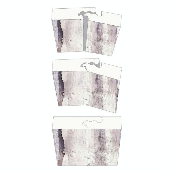 Showerwall Grey Volterra Gloss waterproof proclick shower wall panel