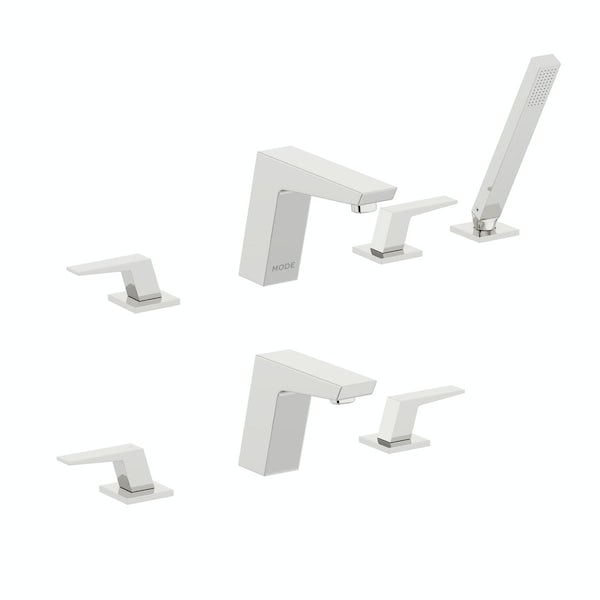 Mode Carter 3 hole basin and 4 hole bath shower mixer tap pack