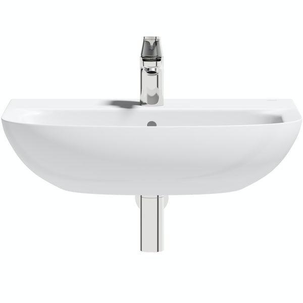 Grohe Bau 1 tap hole wall hung basin 600mm