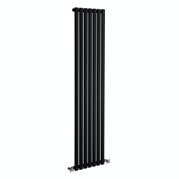 Reina Neva anthracite grey single vertical steel designer radiator